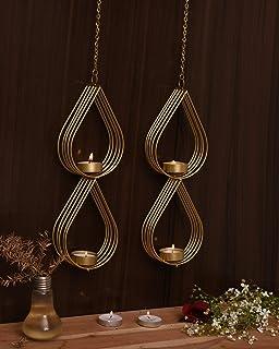 CraftVatika Decorative Metal Wall Candle Sconces, Wall Candle Holders Tea Light Candle Holder Wall Sconce Set, Contemporar...