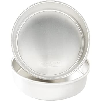 "Nordic Ware 9"" Round Natural Aluminum Cake Pans, 2 Pack, 9"", Non-Stick"