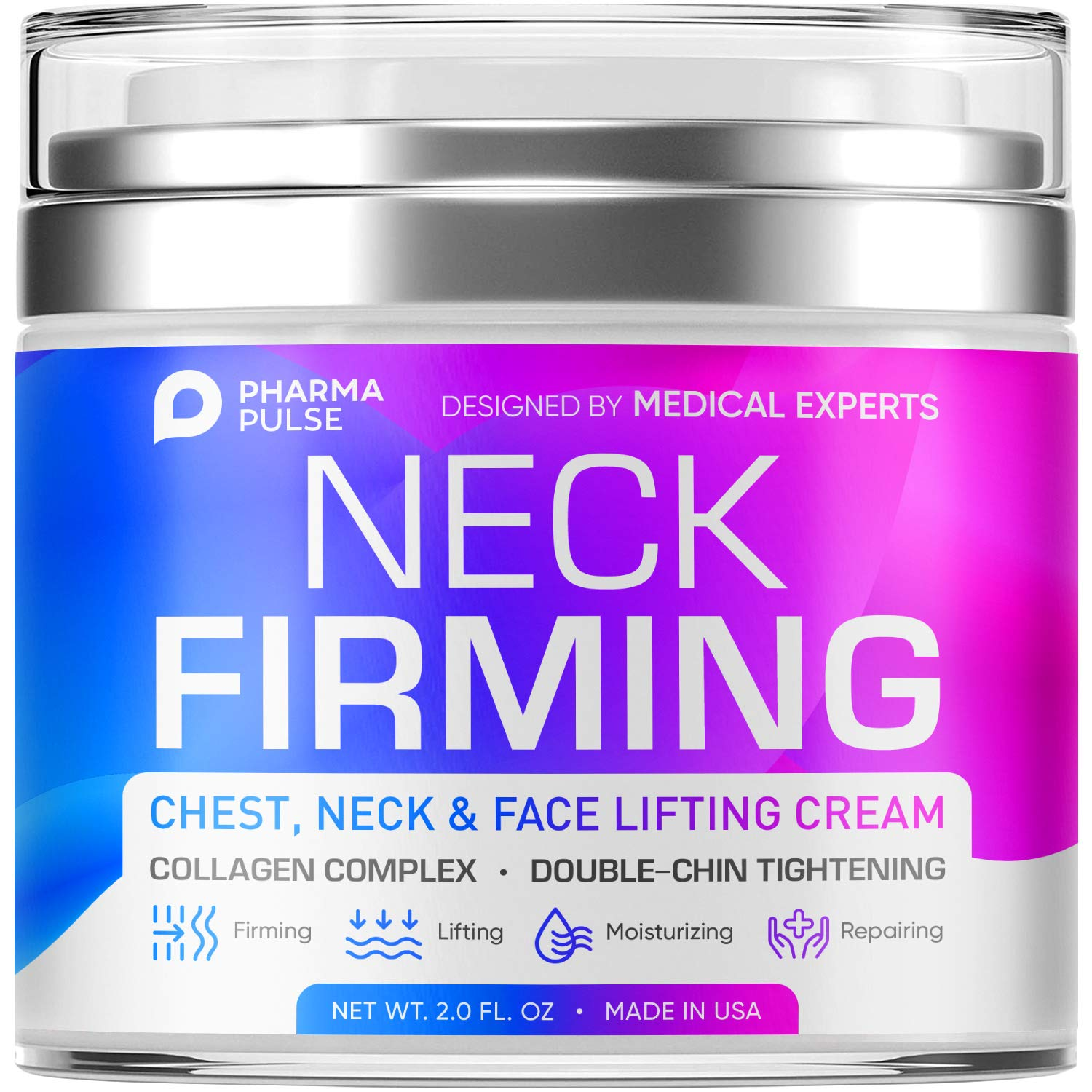 Neck Firming Cream, Neck Anti-Wrinkle Cream, Anti Aging Moisturizer for Neck & Décolleté, Neck Firming Cream for Double Chin and Sagging Skin, Neck, Chest & Décolleté Skin Care for Men & Women : Beauty & Personal Care