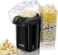 Machine à Pop Corn, Aicok Retro Popcorn Maker, Air Chaud Sans Gras Huile, Revêtement Anti-adhésif, Avec Coupe à Mesurer et...