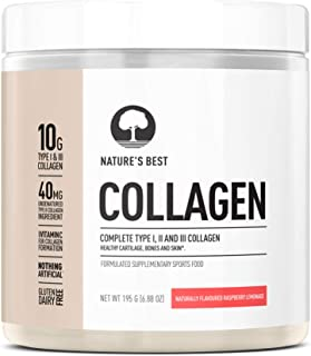 NATURE'S BEST Collagen Complete Type I, II and III Collagen Raspberry Lemonade, 195g (1098783)