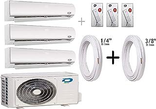Diloc Frozen Aire Acondicionado MultiSplit Wifi, Aire Acondicionado Inverter 6,1 kW Trial Gas R32 D.FROZEN360 (9+9+12) D.FROZEN9 x 2 + D.FROZEN12) + Tubos Cobre Par 1/4