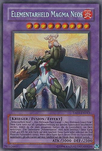 TAEV-DE043 - Elementarheld Magma Neos - Secret Rare - Yu-Gi-Oh - Deutsch - 1. Auflage