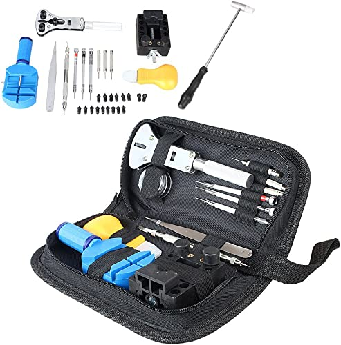 wholesale Mallofusa 13 Pieces Watch Repair Tool Kit Set Professional Bag Case high quality Back Remover Adjustment 2021 Opener outlet online sale