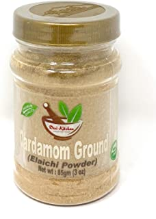 Desi Kitchen Spices All Natural | Salt Free | Vegan | Green Cardamom Ground (Green Elaichi Powder) 3oz By Rani Foods Inc