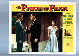 MOVIE POSTER: THE PRICE OF FEAR-MERLE OBERON-1956-LOBBY CARD VF