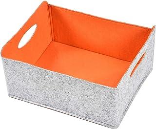 Nati Panier de rangement en feutre pour jouets, boîte de rangement pliable pour livres, magazines, cube de rangement pliab...