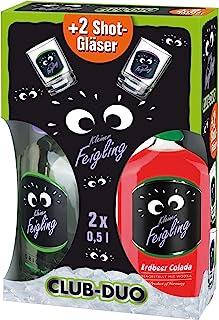 Kleiner Feigling Duo  2 Sammel-Shot-Gläser, Original Erdbeer Colada Marken-Spirituose Premium Likör Feiern mit Fantasie Der Party – Shot Wodka 2 x 0,5 l