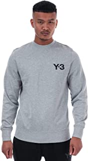 Y-3 Mens Classic Crew Sweat in Grey.
