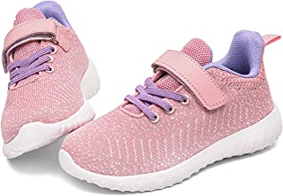 Boys Girls Sneakers Kids Breathable Mesh Lightweight Tennis Athletic Running Shoes