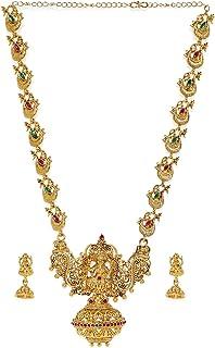 Zaveri Pearls Sacred Goddess Temple Necklace Set For Women-ZPFK7691