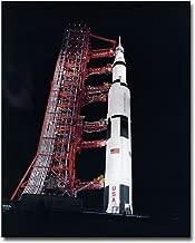 NASA Apollo 13 Saturn V Rocket at Night 8x10 Silver Halide Photo Print