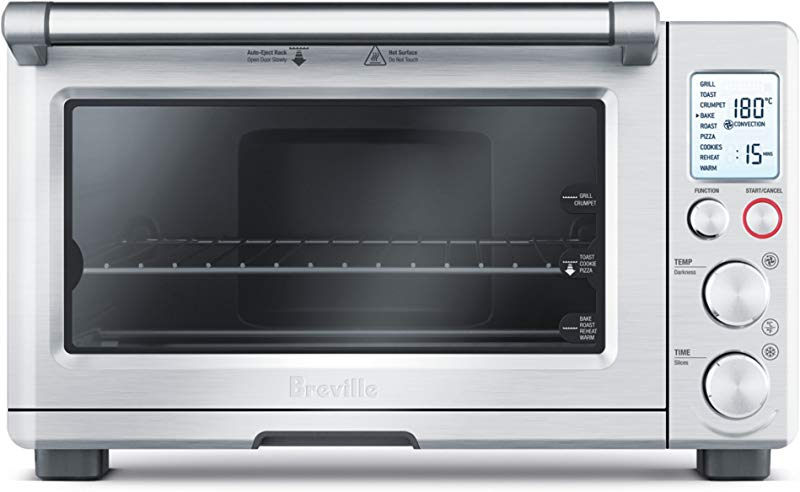 Breville BOV800XL Smart Oven 1800 Watt Convection Toaster Oven With Element IQ Silver