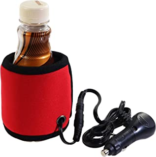 12V Car Electric Warmer Cup Sleeve Travel Beverage Warmer,Portable Baby Bottle Warmer for Milk,Coffee,Tea,Water