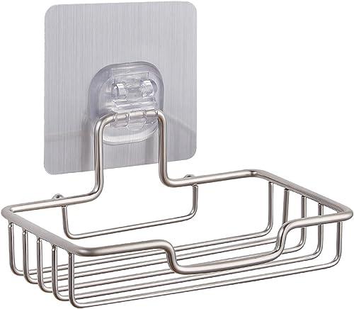 Fealkira Soap Dish Holder for Bathroom Shower Wall Mounted Self Adhesive Nail Free No Drilling Soap Holder Saver Tray...