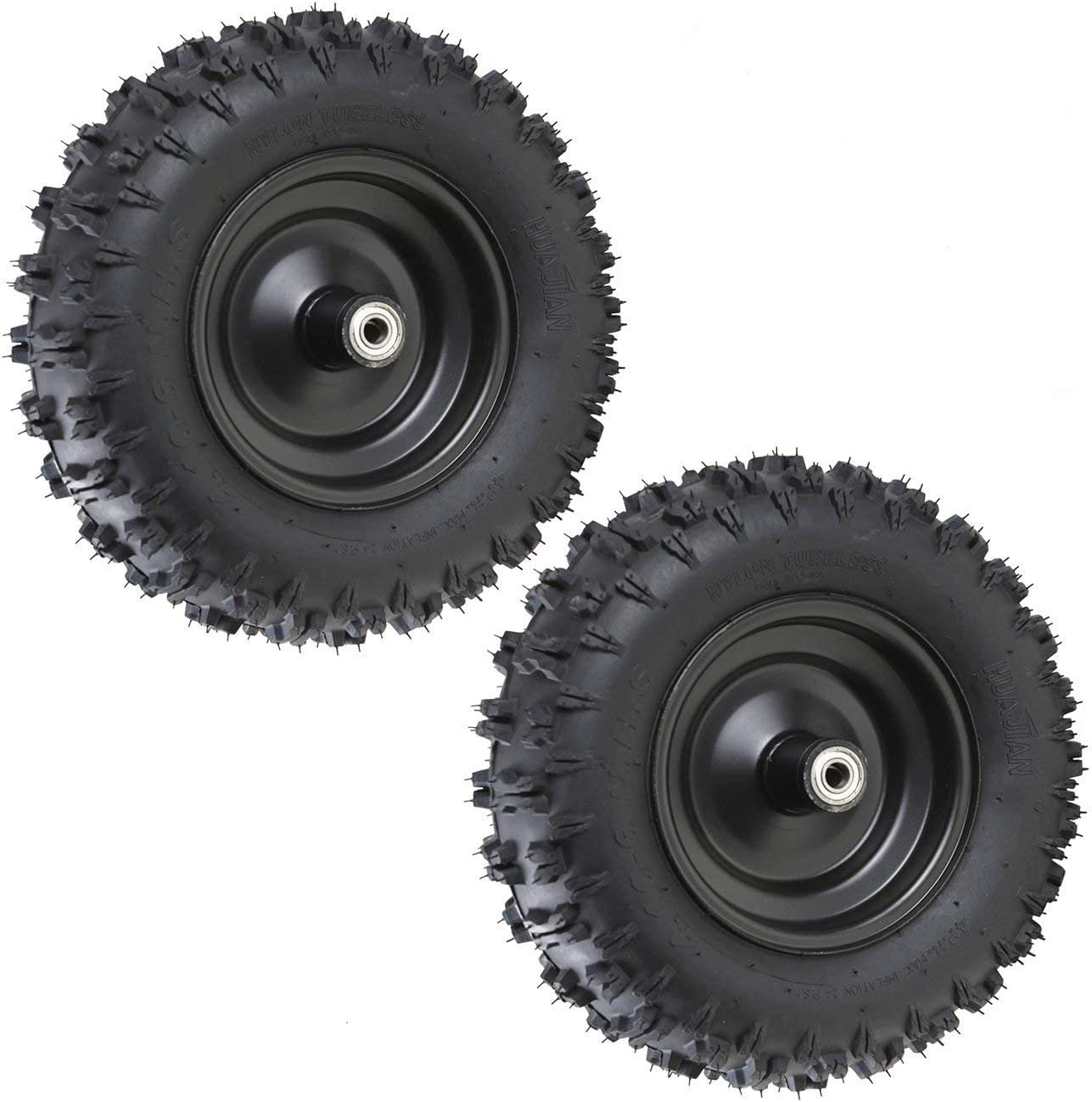 JCMOTO Pair 4.10-6 Sales Go Kart ATV with Tire OFFicial mail order Rim 6001ZZ Tubeless and