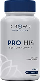 Crown Fertility PRO HIS Male Fertility Supplement to Increase Conception and Fertility Support by Helping Aid Sperm Count and Quality - 120 Capsules (30-Day Supply)- Packaging May Vary