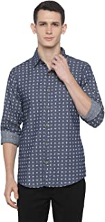nick&jess Cotton Print Shirt for Men