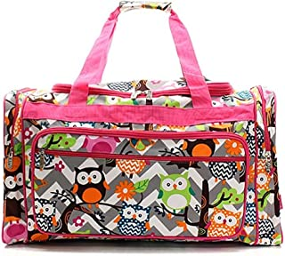 Large Weekender Carry-on Ambesonne Funny Gym Bag Hipster Animal Glasses