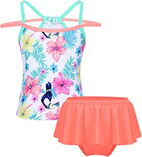 a3b0aabece071 CHICTRY Little Girls Toddlers Flounce Ruffle Two Piece Tankini Swimsuit  Swimwear Sets