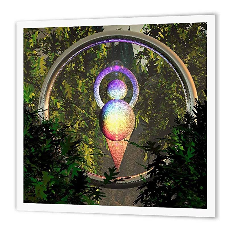 3dRose ht_60819_2 Symbol Representing The Chakras-Iron on Heat Transfer Paper for White Material, 6 by 6-Inch