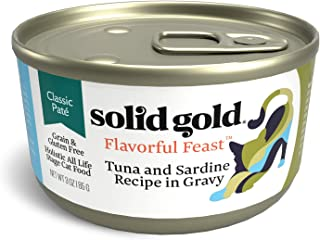 Solid Gold Pate In Gravy Wet Cat Food; Flavorful Feast With Real Seafood, 24 Ct/3 Oz (Previously Solid Gold Evening Tide And Wild Harvest)
