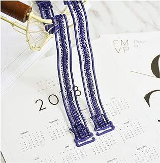 Lace Shoulder Strap Organza Bra With Shoulder Underwear Belt,Blue