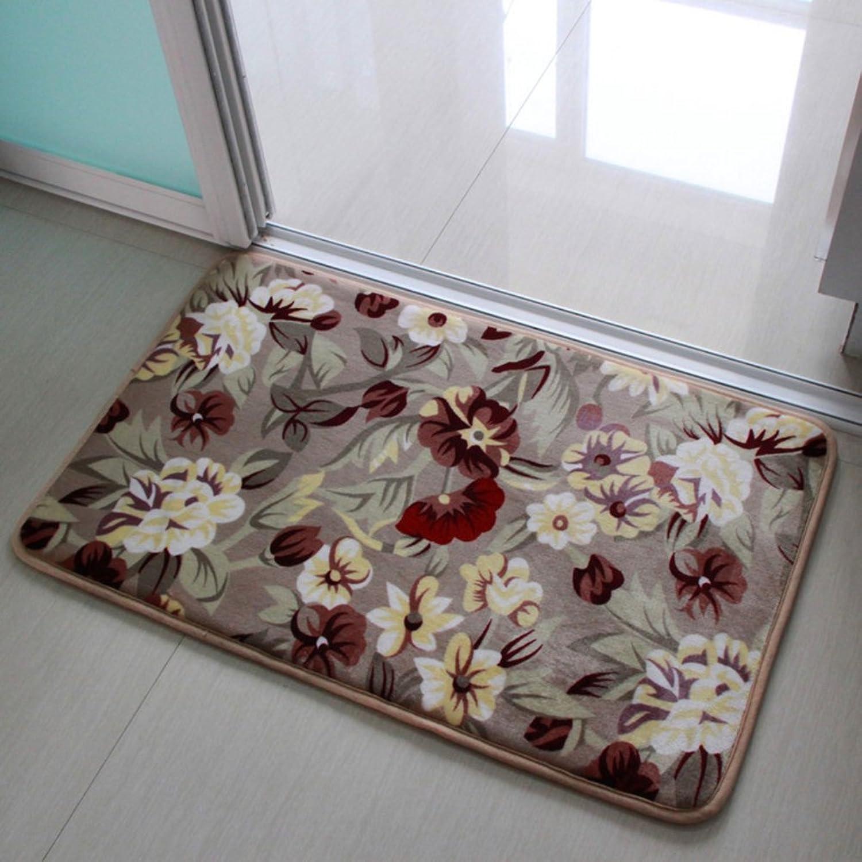Coral velvet simple door mat Foot pad Indoor mats [hall] Toilets Bedroom Bathroom mats-D 120x160cm(47x63inch)