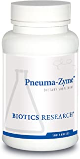 Biotics Research Pneuma-Zyme™ – Respiratory Support with Neonatal Lung. Supports Lung Healing and Repair. Upper Respirator...