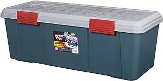 アイリスオーヤマ 収納 BOX 770×320×280 RVBOX 770D グレー/ダークグリーン