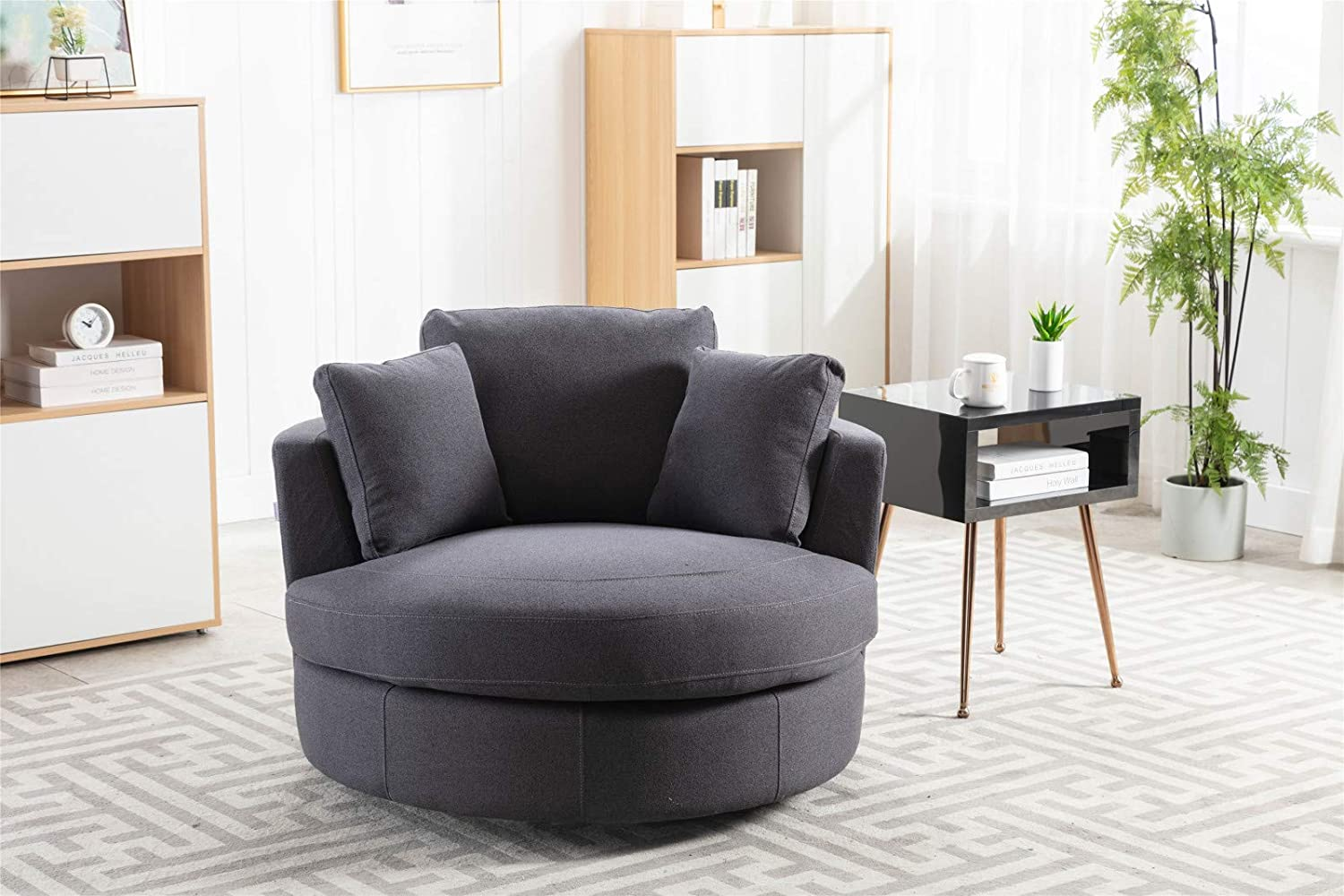Pannow Modern Recommendation Akili Swivel Barrel Chair Sofa Barr SEAL limited product Accent