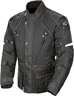Joe Rocket Ballistic Revolution Men's Textile Sports Bike Motorcycle Jacket - Black/Black/Small