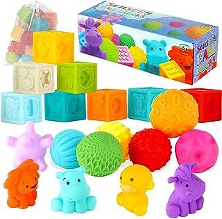 Baby Blocks Balls & Buddies Set: 20-Pieces Activity Toy...
