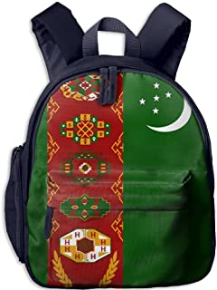 Pinta National Flag of Turkmenistan Cub Cool School Book Bag Backpacks for Girl's Boy's