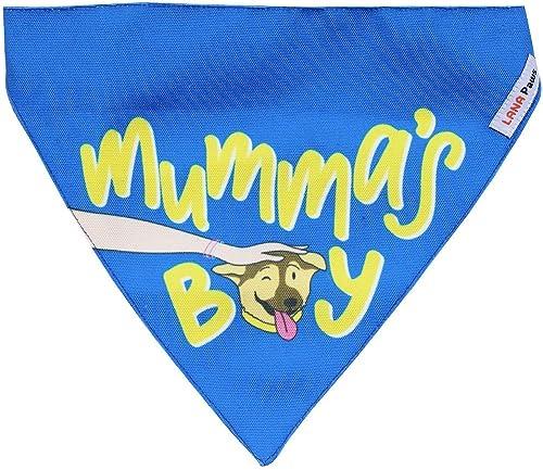 Lana Paws Adjustable Mumma's Boy Dog Bandana (Blue)
