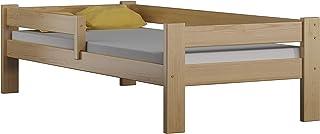 Children's Beds Home Lit Simple en Bois de Pin Massif - Willow est livré avec Un Matelas en Mousse sans tiroir (160x80, Na...
