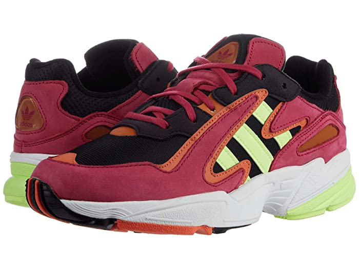 adidas Originals Kids  GS Yung-96 Chasm (Big Kid) (Core Black/Hi-Res YellowithEnergy Pink F17) Boys Shoes