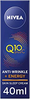 NIVEA Q10 Plus Pure Vitamin C Moisturising Anti-Wrinkle Energy Skin Sleep Cream, with Q10 & Vitamin C for Tired Skin & Fine Lines, 40ml