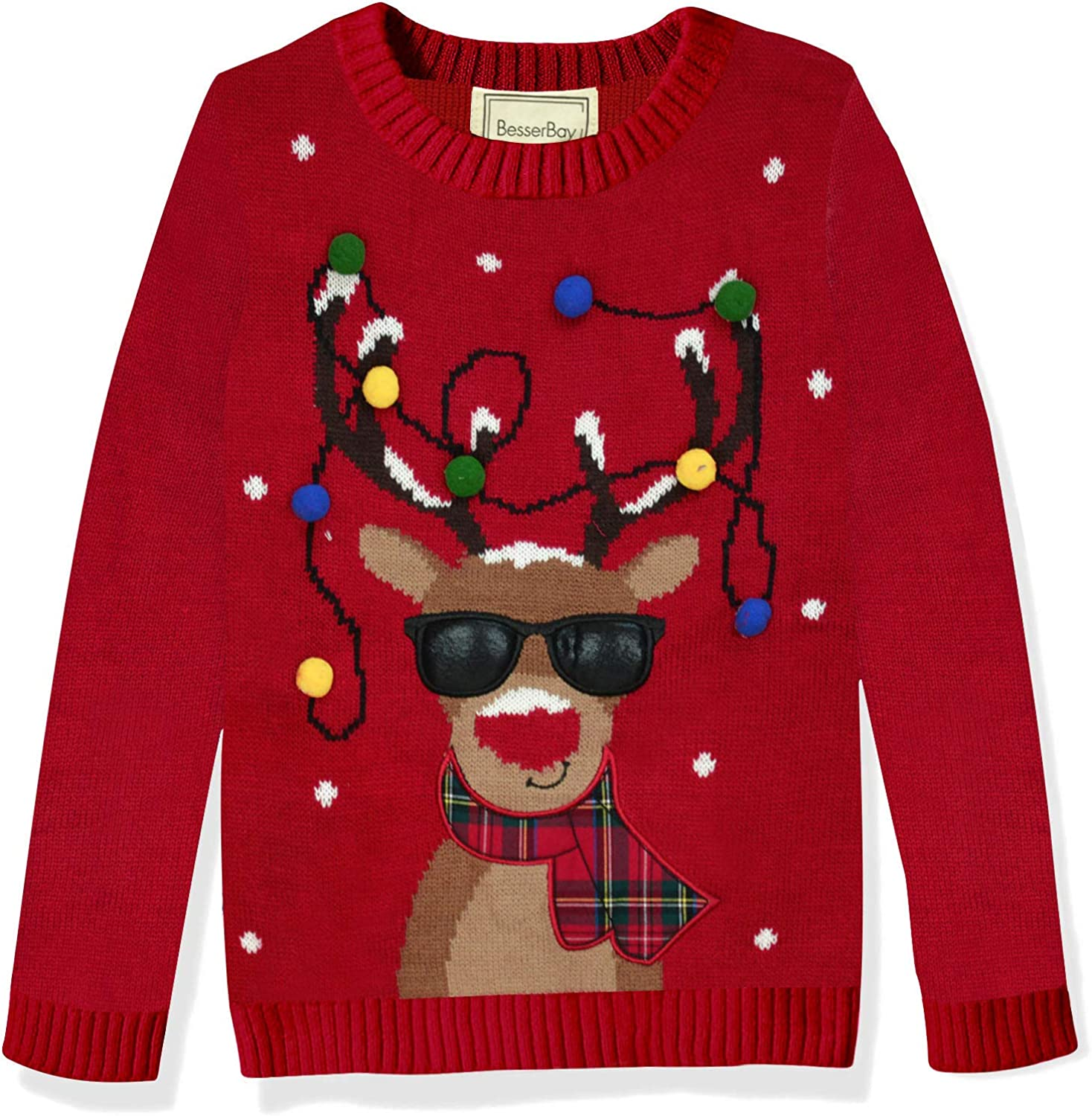 BesserBay Unisex Kid's Christmas Ugly Sweater 1-14 Years