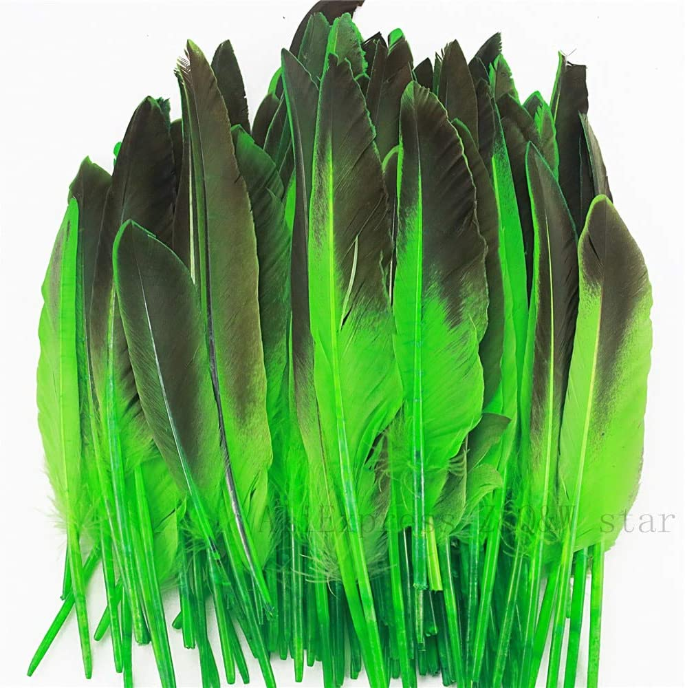 Xucus supreme Natural 15-25CM 6-10 inches Max 47% OFF Grey Dyed Wing Duck Feather