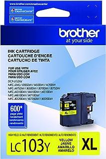 Brother LC-103Y DCP-J132 J152 J171 J4110 J552 J752 MFC-J245 J285 J4310 J4410 J450 J4510 J870 J875 Ink Cartridge (Yellow) i...
