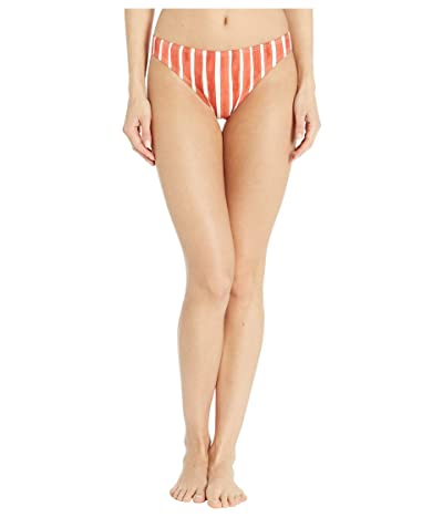 Vince Camuto Hammock Stripe Classic Bikini Bottoms (Papaya) Women