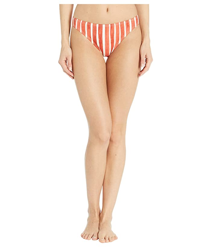 Vince Camuto  Hammock Stripe Classic Bikini Bottoms (Papaya) Womens Swimwear