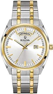 Bulova Mens 98C127XG Quartz Yellow Gold and Silver-Tone Bracelet 39mm Watch(Renewed)