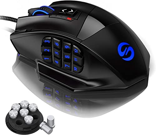 UtechSmart Venus Gaming Mouse RGB Wired, 16400 DPI High Precision Laser Programmable MMO Computer Gaming Mice [IGN's ...