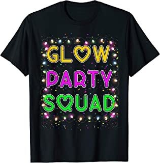 Glow Party Squad Paint Splatter Effect Glow Party Shirt T-Shirt