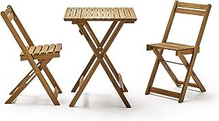 Amazon.es: Madera - Conjuntos de muebles de jardín / Muebles ...