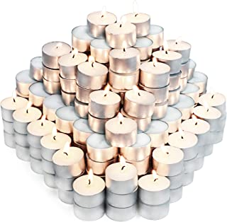Unscented Tea Lights Candles for Candle Holder, 6H 200pack Long Lasting White Small Votive Soy Candles for ...