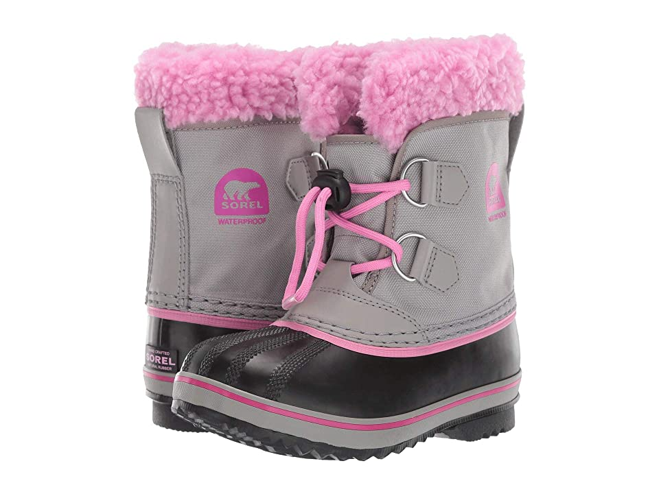 SOREL Kids Yoot Pac Nylon (Toddler/Little Kid) (Chrome Grey/Orchid) Girls Shoes