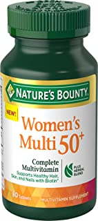 Women's 50+ Multivitamin by Nature's Bounty, Complete Adult Multivitamin Supplement with Biotin Plus Herbal Blend, 80 Tablets
